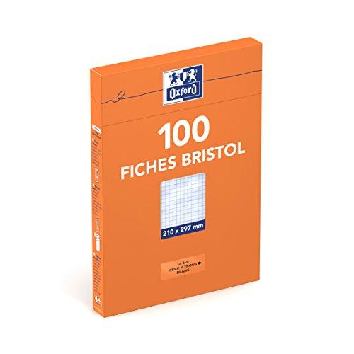 oxford-etui-de-100-fiches-bristol-perfores-a4-petits-carreaux-5x5