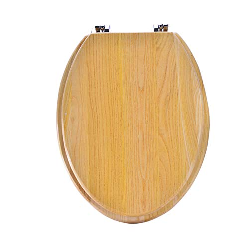 Massivholz Längliche Wc sitze Starke scharniere Wc deckel Heavy-duty Antimikrobielle Wc sitze Einfache installation und reinigung-V-Form (Längliche Holz-wc-sitz Schwarz)