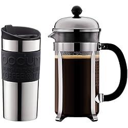 Bodum Chambord - Cafetera, 8 tazas (1 litro) con taza de regalo