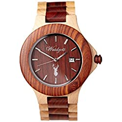 The Time Clock Wood Grouse Design Premium Men's Watch AU01