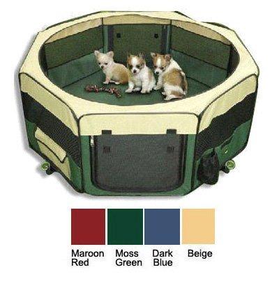topPets Tragbare Weiche Pet Soft Seite Play Pen Oder Zwinger für Hunde, Katzen Oder Andere Kleine Haustiere. Ideal für Indoor und Outdoor, Dunkelblau
