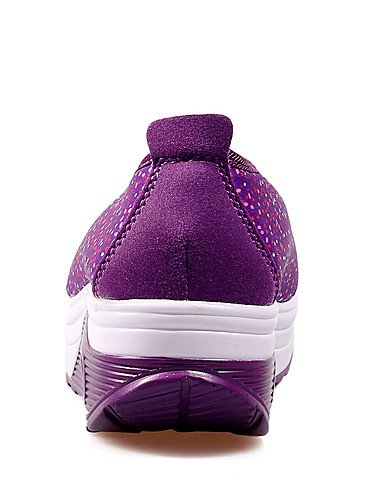 ZQ Scarpe Donna-Mocassini-Tempo libero / Casual / Sportivo-Zeppe / Scarpette da culla-Zeppa-Tessuto-Nero / Rosa / Viola , purple-us9 / eu40 / uk7 / cn41 , purple-us9 / eu40 / uk7 / cn41 black-us6 / eu36 / uk4 / cn36