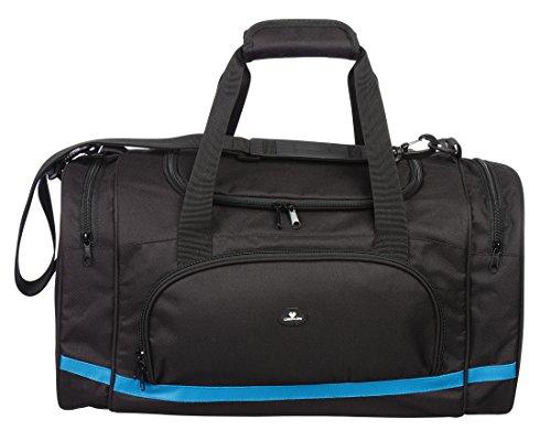 Case4Life Black Water Resistant Sport   Gym Holdall Duffle Bag   Padded Removable Shoulder Strap - Lifetime Warranty