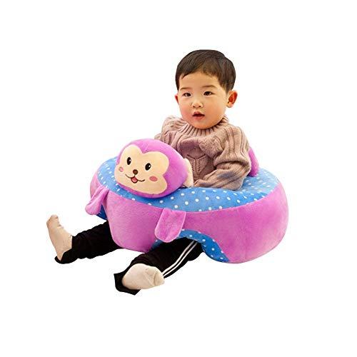 Bebés Silla estar Aprendizaje Asiento sentado Infantil Bebé Aprendizaje Silla de Sentarse Soporte Portátil Asiento Suave Almohada Cojín Asiento de Juguete de Peluche para Niños