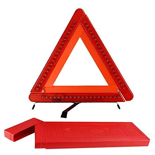 KDKDA Sicht-Auto-Notfall-Straßenrand-Sicherheits-Warndreieck mit LED-rotem Warnlicht for Auto-LKW SUV