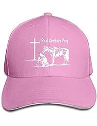uykjuykj Baseball Caps Hats Christian Praying Cowboy Crosses Unisex Washed  Retro Cowboy Hat Baseball Cap Adjustable 703ba326d0d3