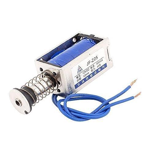 sourcingmap® DC 12V 10mm 4,5Kg Poussée Ou Traction Type Cadre Ouvert électro-aimant de solénoïde