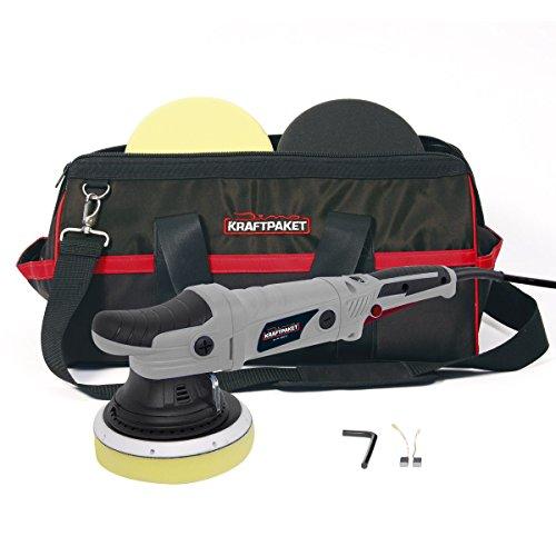 *Dino KRAFTPAKET Exzenter Auto Poliermaschine 21mm XXL-Hub 720 Watt mit 2 X Polierschwamm 1 X Polierteller 1 X Tasche*