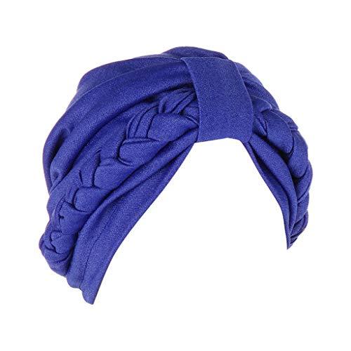 ZZBO Mütze Damen Kopftuch Turban Beanie Elegante Falten Vorgebundenen Kopf Cover Up Islamischen Kopfbedeckung Muslimischen Kopfschmuck Turbanmütze für Haarverlust Chemotherapie