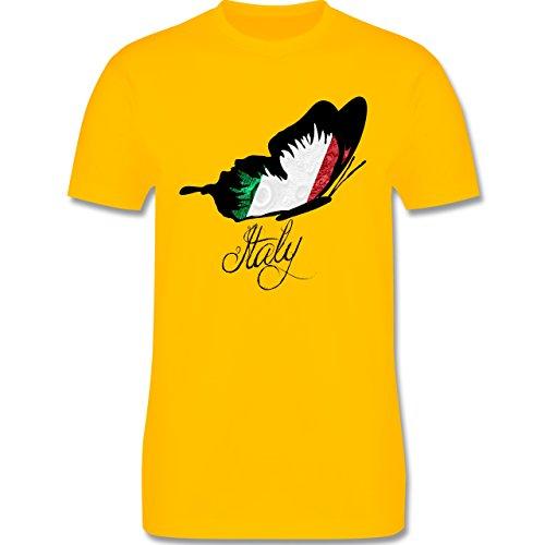 EM 2016 - Frankreich - Italy Schmetterling - Herren Premium T-Shirt Gelb