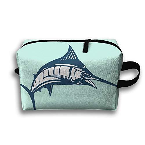 Unisex-Touristentasche Marlin Fish SwordfishMultifunktions-Reise-Make-up-Tasche mit Reißverschluss-Kosmetik-Beutel-Taschen