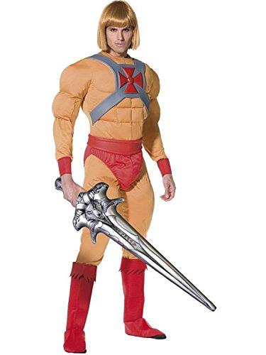 Herren Kostüm ER Man Plus Kostenlose Perücke und Schwert Größen Medium und Large