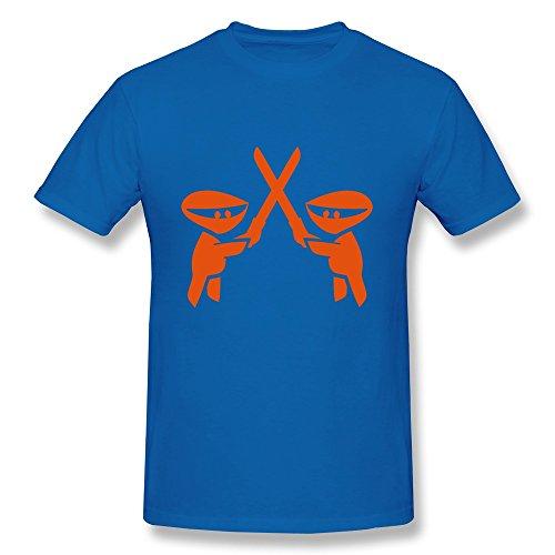 Catees  Herren T-Shirt Gr. M, Gelb - Königsblau (Bradley Grill)