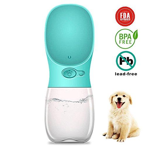 Tonyhoney Tragbare Haustier Wasserflasche Hund Katze Trinkflasche für Camping,Spaziergang,Wandern,Training,Unterwegs,350ML (Macaron Grün)
