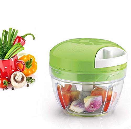 Fortane Easy Spin Quick Cutter (2 in 1) 750 ml Vegetable Fruit Nut Onion Chopper, Hand Meat Grinder Mixer Food Processor Food Processer, Choppers, Chopper Vegetable CutterVegetable Tools
