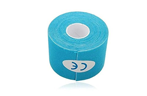 5M*5cm Blue Kinesiology Elastic Tape Rope Sports Physio Muscle Strain Injury Support 1 Roll