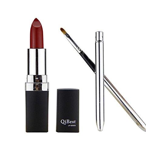 Lippenstift Damen Kolylong 1 Satz Wasserdicht Lippenstift Lip Gloss und Mini Lippenpinsel RD/12