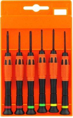 Feinmechaniker Set [6 Schraubendreher] Uhrmacherwerkzeug Set - Schraubendreher-Set für Uhr, Brille, Modellbau, Handy, PC, Laptop - Uhrenwerkzeug