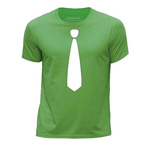 STUFF4 Garçons/5-6 ans (110-116cm)/Vert/Col Rond T-Shirt/Mode Branché / Skinny Tie