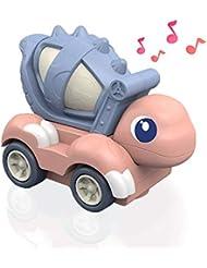 Lehoo Castle Giocattolo del Dinosauro con i Veicoli della Costruzione, Giocattolo Universale del Miscelatore dell'escavatore con Musica e Luce per Il Regalo delle Bambino 1-3 Anni Mixer Pink