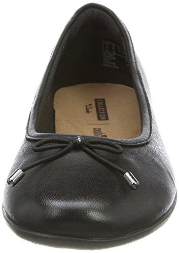 Clarks Gracelin Blu, Ballerine Donna Nero (Black Leather)