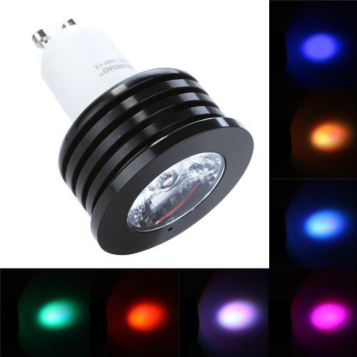 Kingzer 2 x GU10, 110-240 V, 4 W, LED-Lampe, RGB-Musik-Fernbedienung