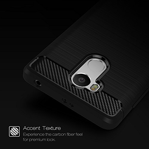 Xiaomi Redmi 4 Prime / Pro Case Gebürstete Textur Carbon Fiber TPU Schutzhülle für Xiaomi Redmi 4 Prime / Pro Case by diebelleu ( Color : Black ) Red