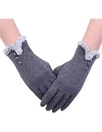 Aibrou Touchscreen Handschuhe Damen Winterhandschuhe Fahrradschuhe Frauen Handschuhe Winter Warm Handschuhe mit Fleecefutter in Rot, Schwarz und Grau
