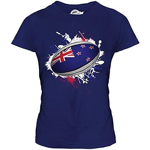 CandyMix Nuova Zelanda Palla Da Rugby T-Shirt da Donna (Nuova Zelanda Rugby Shirts)