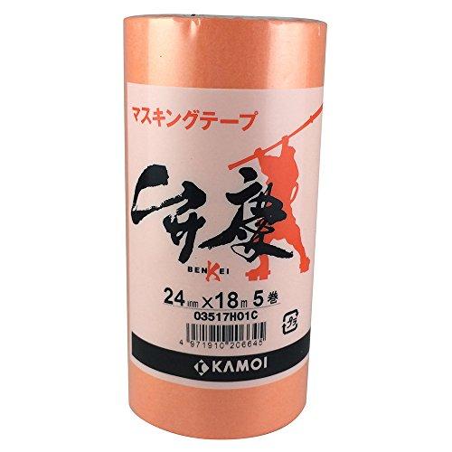 Kamoi Malerkrepp Benkei (24 mm x 18 m) 5P [ Aushärtungsband ] (Japan Import)