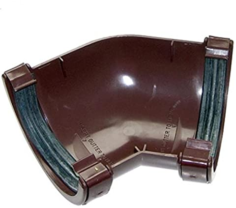 floplaststeckanschluss für Abflussrohr 112mm rund Gosse Rohr 135Grad Winkel–Braun