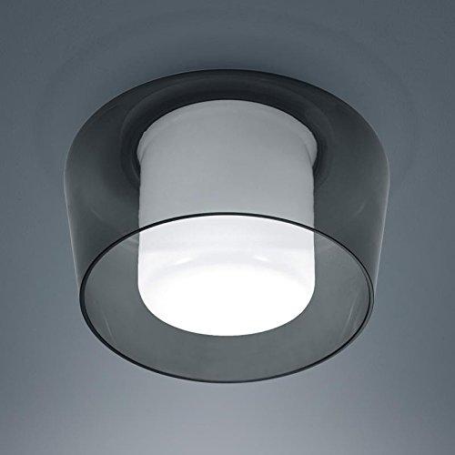 Helestra Deckenleuchte Canio Glas Grau IP30 | 60W | 15/1735.07/5240