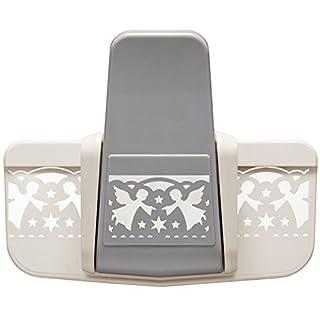 Royal Bordüren-Stanzer, Engel, Stanzung 3,5 cm x 5,7 cm | Motiv-Locher für Papier | Basteln mit Engel-Bordüren für Weihnachten | Schutzengelchen mit Sternen