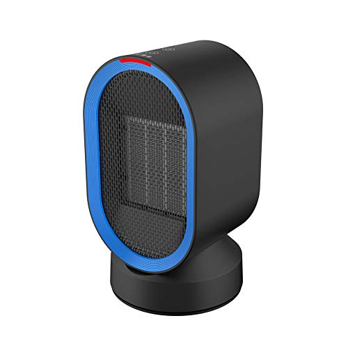 Leise Keramik-Raumheizung Mit Verstellbarem Thermostat, Tragbarer Elektrischer Heiz Ventilator Mit Überhitzeschutz-Sicherheitsbüro & Hausheizung Warme Füße Schwarz -