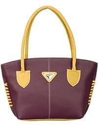 Ladies Handbag (Purple) Latest Fashionable PU Leather Fancy Stylish Handbag / Bag / Purse For Women / Shoulder...