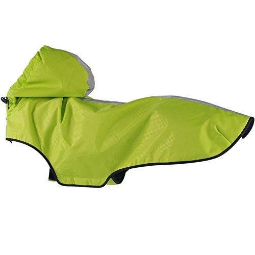 Treat Me Hunderegenmantel mit Kapuze Absolut Wasserdicht Atmungsaktiv Regenjacke Hund Regenmantel Hundejacke für Kleine/Mittlere/Große Hunde