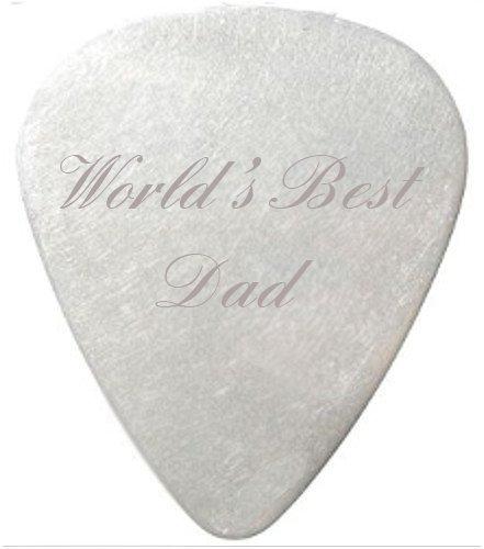 Worlds Best Dad Guitar Pick / Plectrum  black
