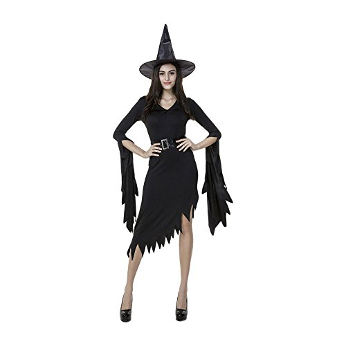 Kostüm Magierin Sexy Hexenkostüm unregelmäßig Hexenkleid Frauen Faschingskostüm Zauberin Halloween Kleid Outfit Damenkostüm