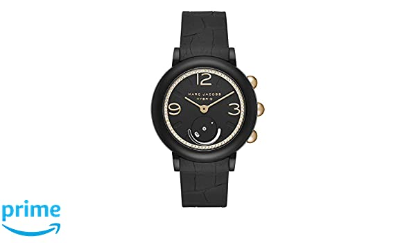 Marc Jacobs Riley Hybrid Smartwatch Noir/doré Mjt1014: Amazon.fr: Montres