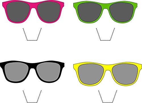 12 x Neuheit Sonnenbrille / Schattierungen mischen essbaren aufstehen Wafer Papier kuchen deckel