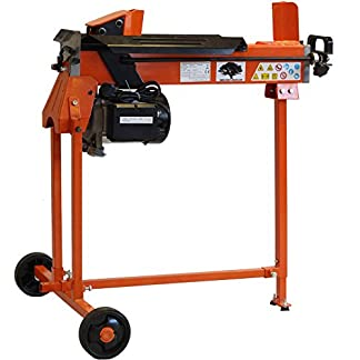 cortadora de troncos de madera hidráulica eléctrica cortador de 3 hp 7 toneladas con el soporte y doublade