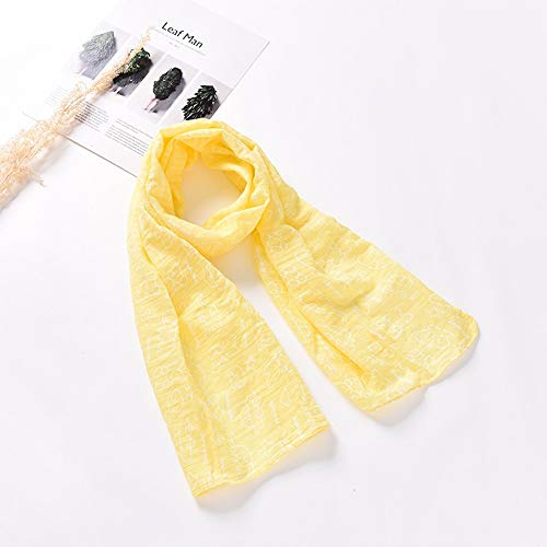 AWQKL Kinder Warme Schal Fashion Scarf,Korean Version,Boy and Girl,Cotton and Linen Scarf,Comfortable Baby Scarf Wholesale,Cartoon Yellow,Above 130Cm