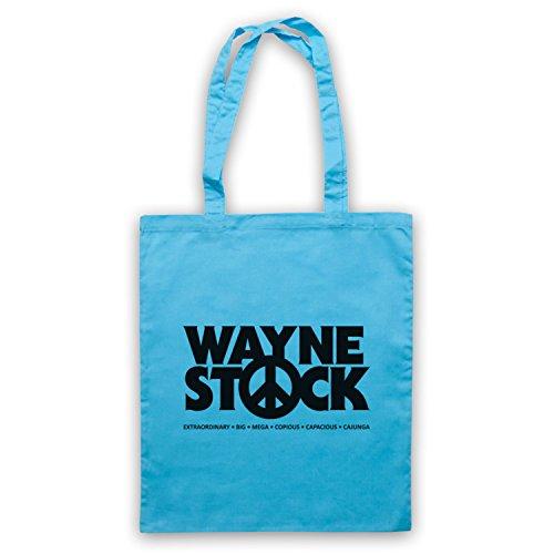 Inspiriert durch Waynes World 2 Waynestock Inoffiziell Umhangetaschen Hellblau