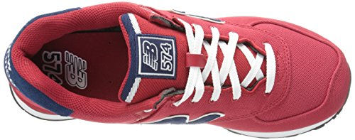 New Balance ML574, Baskets mode mixte adulte Rouge