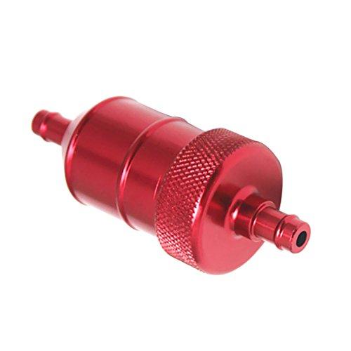 sharplace 8mm 5/40,6cm eloxierte Legierung Universal Inline Gas Kraftstoff-Filter für Motorrad Dirt Bike ATV (Gas-boot, Kleine Motor)