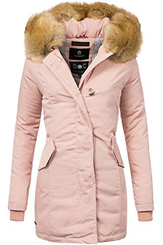 Marikoo Damen Winter Mantel Winterparka Karmaa Rosa Gr. XL (Wasserdicht Damen Winter Mantel)