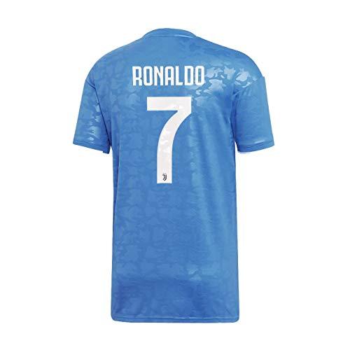 check out 792a0 089e5 Juventus Maillot de 7 Ronaldo troisième Tiers Officielle 2019/20-100%  Original - Patch Bouclier Inclus - M, Bleu