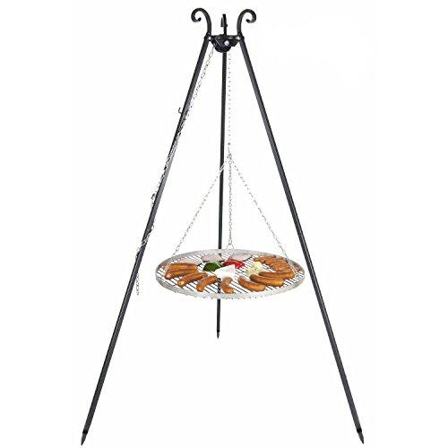 Schwenkgrill Dreibein mit 70cm Edelstahl-Grillrost