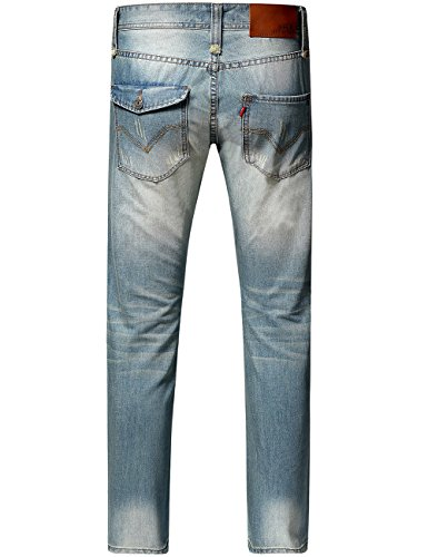 SSLR Herren Reguar Fit Straight Leg Jeans Hose Hell Blau