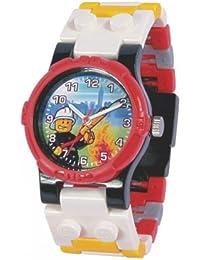 Lego - 740426 - City Fireman - Montre Enfant - Quartz Analogique - Cadran Multicolore - Bracelet Plastique Multicolore
